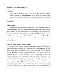 III nodaļa: Vecās Derības izcelsme I [b] Šajā nodaļā: [Turpinājums ...