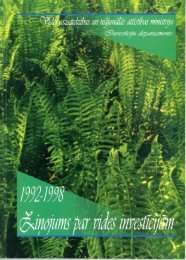 Ziņojums par vides investīcijām 1992. - 1998. gads