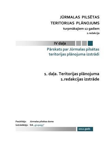 1. daļa. Teritorijas plānojuma 1.redakcijas izstrāde - Grupa93