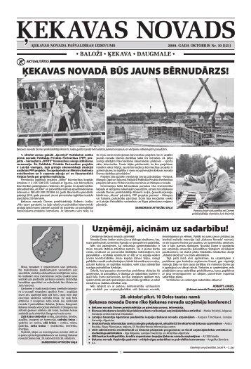 Nr. 10 2009. gada oktobris - Ķekavas pagasts