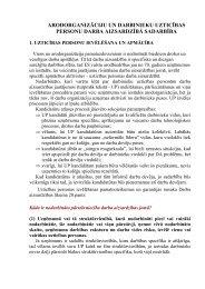 Arodorganizāciju un darbinieku uzticības personu darba aizsardzībā ...