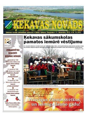 Nr.13 2012.gada decembris - Ķekavas pagasts