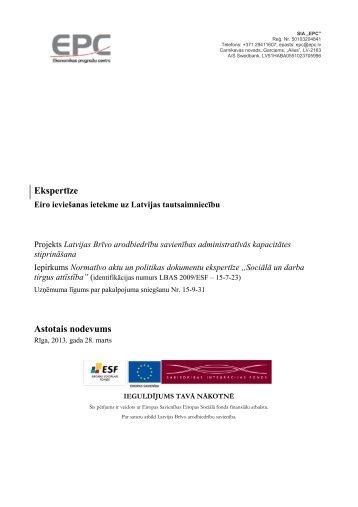 Ekspertīze Astotais nodevums - Latvijas Brīvo Arodbiedrību Savienība