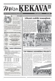 Nr. 6 2007. gada jūnijs - Ķekavas pagasts