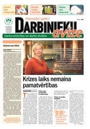Darbinieku avīze Nr. 4 - Latvijas Brīvo Arodbiedrību Savienība