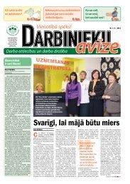 Darbinieku avīze Nr. 9 - Latvijas Brīvo Arodbiedrību Savienība