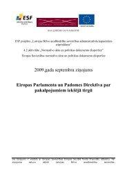 Eiropas Parlamenta un Padomes Direktīva par pakalpojumiem iekšējā