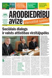 Sociālais dialogs ir valsts attīstības virzītājspēks - Latvijas Brīvo ...