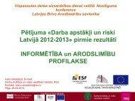 Darba apstākļi un riski Latvijā 2012-2013 - Latvijas Brīvo ...