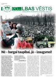 LBAS Vēstis Nr. 135 - Latvijas Brīvo Arodbiedrību Savienība