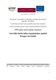 Atsevišķi darba laika organizācijas aspekti Eiropas Savienībā