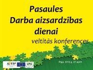 Pasaules Darba aizsardzības dienai veltītās konferences