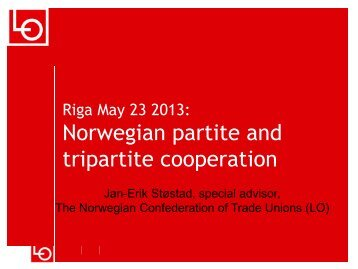 Norwegian partite and tripartite cooperation