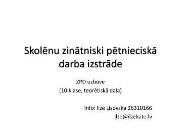 ZPD - 10.klasei - Ķekavas vidusskola