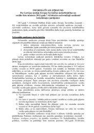 Informatīvais ziņojums par Latvijas nostāju Eiropas Savienības ...