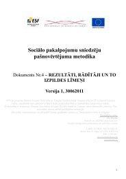 Rezultāti, rādītāji un to piemēri - Labklājības ministrija