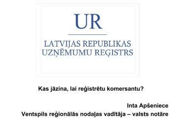 LR Uzņēmumu reģistra prezentācija par uzņēmuma ... - VATP