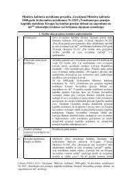 """Noteikumu projekta """"Grozījumi Ministru kabineta 2008.gada 16 ..."""