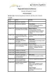Reģionālā tūrisma konference PROGRAMMA