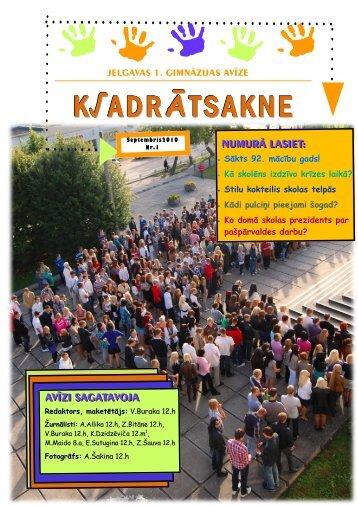 K√ADRĀTSAKNE - Jelgavas 1. ģimnāzija
