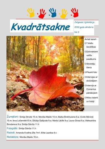 2012.g. oktobris Nr.2 - Jelgavas 1. ģimnāzija