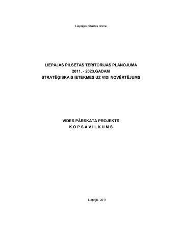 Liepājas pilsētas teritorijas plānojuma 2011. – 2023. gadam - Grupa93