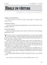 Bībele un vēsture - Rīgas 1. draudze