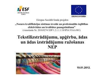 Prezentācija par NEP paveikto 2011.gadā