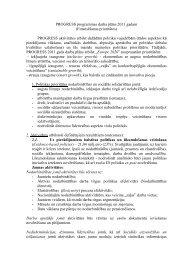 PROGRESS programmas darba plāns 2011 gadam (Finansēšanas ...