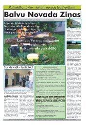 Balvu Novada Ziņas Nr.9 - Balvi