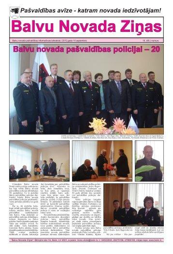 Balvu Novada Ziņas Nr.16. - Balvi