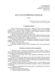 Balvu novada bāriņtiesas nolikums - Balvi