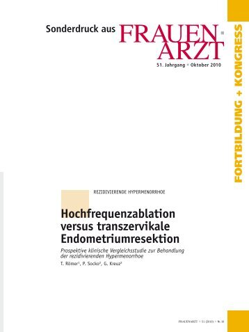 Hochfrequenzablation versus trans zervikale Endometriumresektion