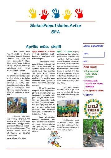 avīze_aprīlis_2012 - Slokas pamatskola