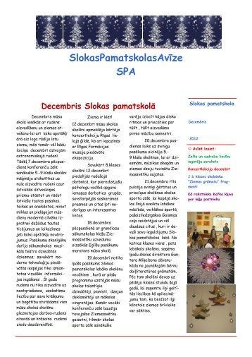 ecembris - Slokas pamatskola