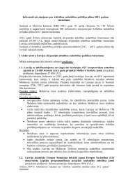 Informatīvais ziņojums - Latvijas Republikas Ārlietu Ministrija