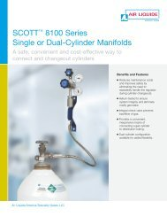 SCOTT 8100 Series Single or Dual-Cylinder Manifolds - Air Liquide ...