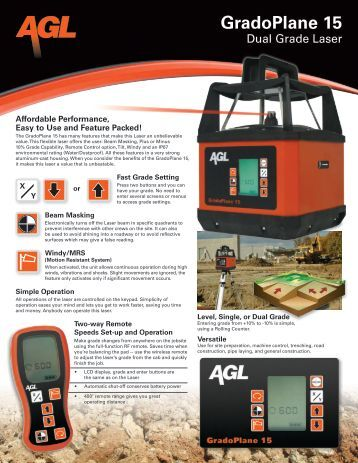 Product Brochure - New England Laser & Transit Company