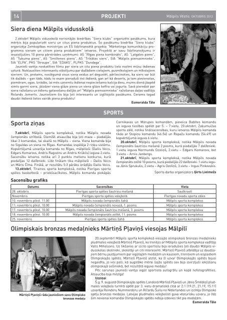 Nr. 10 (136) Oktobris - Mālpils