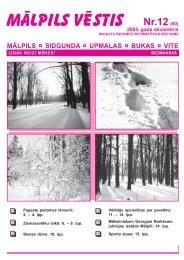 Nr.12 (60) Decembris - Mālpils