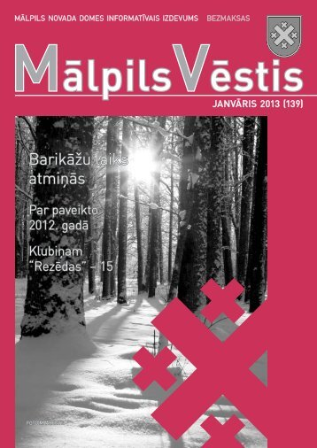 Nr.1 (139) Janvāris - Mālpils