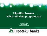 Hipotēku bankas atbalsta programmas uzņēmējdarbības ... - Liic.lv