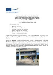 """Multilateral Comenius Partnership – 2010/2012 Project - """"Class in ..."""