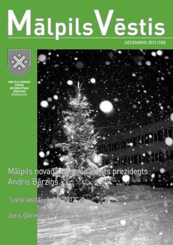 Nr.12 (138) Decembris - Mālpils