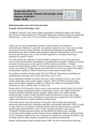 Avots:www.DELFI.lv Autors:Ventspils Tūrisma informācijas centrs ...