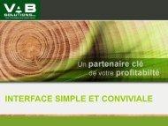 Interface simple et conviviale [PDF] - VAB Solutions