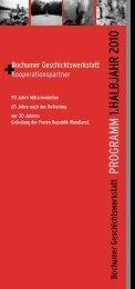Programm des ersten Halbjahrs 2010 - Gerechtigkeit heilt