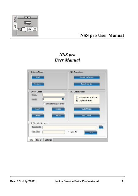 Nss Pro User Manual Nss Pro User Manual Genie Projects