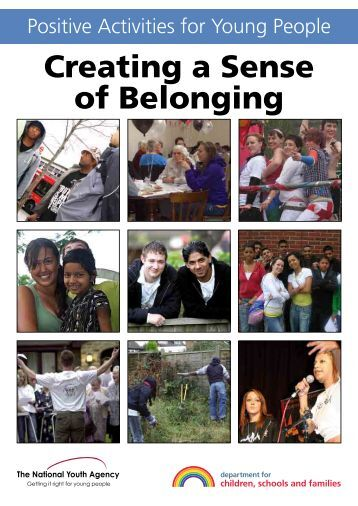 belonging creating a sense of identify Promoting identity formation and a sense of belonging among young  how  children develop knowledge, beliefs, and feelings about countries.