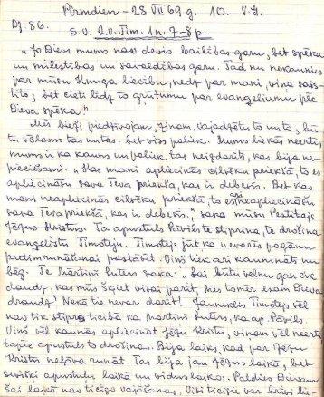 1969.g. 28.07. V.G. 2.Tim.1,7-8. (3.burtnīca)